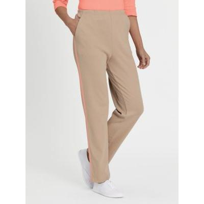 Women's Fresh Sport Pants, Cobblestone/Candlelight Peach 3XL Misses