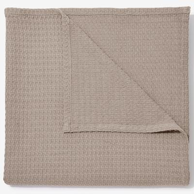 BH Studio Extra Large Blanket, Size Full/Queene in Taupe by BrylaneHome