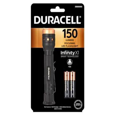 Duracell 00822 - Black LED Head Lamp (Batteries Included) (DURACELL ALUMINUM FOCUSING LED PENLIGHT, 150 LUMENS, 4 MODES, 2-AAA)