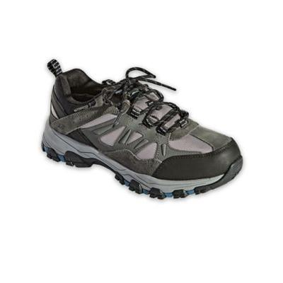 Men's Skechers Selmen Enago Leather Shoes, Grey 12 Double Wide