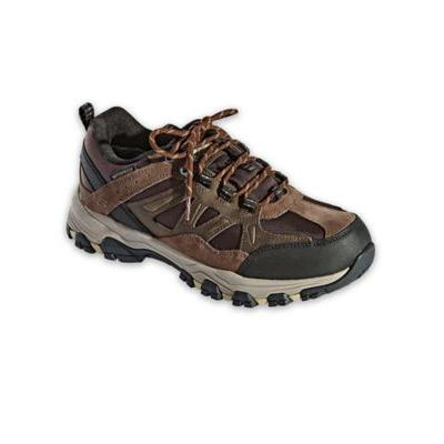Men's Skechers Selmen Enago Leather Shoes, Chocolate Brown 12 Double Wide