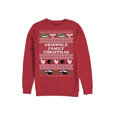 Fifth Sun™ Red National Lampoon's Christmas Vacation Fleece Crew Neck Sweater