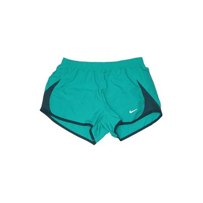 Nike Athletic Shorts: Teal Solid Activewear - Size Small