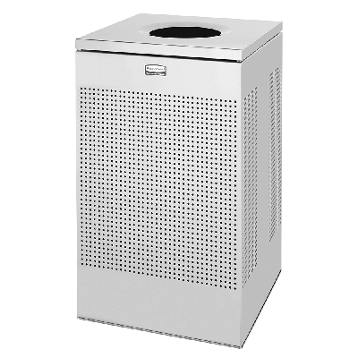 Rubbermaid FGSC18SSPL 20 gal Indoor Decorative Trash Can - Metal, Stainless Steel on Sale