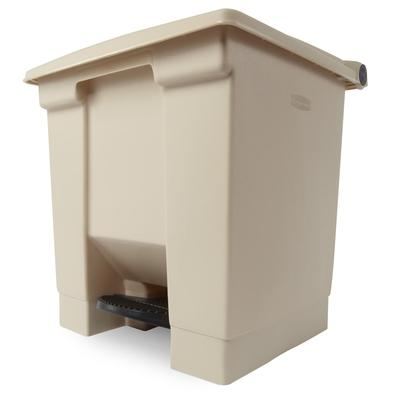 Rubbermaid FG614300BEIG 8 gal Step-On Container - Beige on Sale