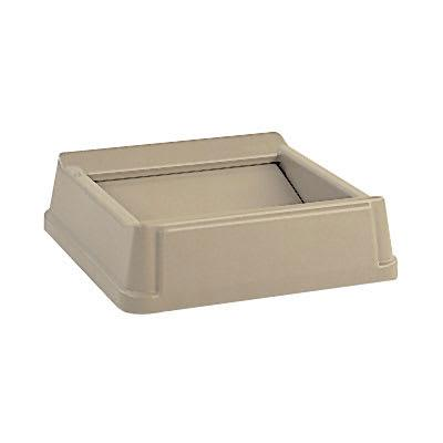 Rubbermaid FG266400BEIG Square Swing Top Trash Can Lid - Plastic, Beige on Sale