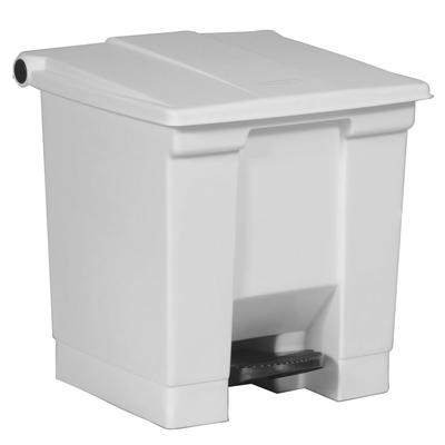 Rubbermaid FG614300WHT 8 gal Step-On Container - White on Sale