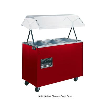 Vollrath 38768 3 Well Hot Food Station - Breath Guard, Open Base, Cherry 120v
