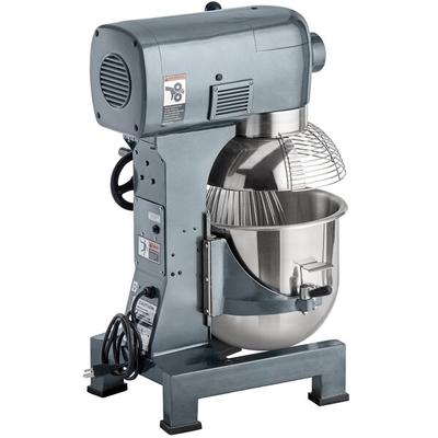 Avantco MX20 20 Qt. Gear-Driven Commercial Planetary Stand Mixer with Guard - 110V, 1 1/2 hp