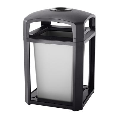 Rubbermaid FG397001 SBLE 35 gal Landmark Series Container - 26x26x40 Dome Top Frame, Ashtray, Sable on Sale