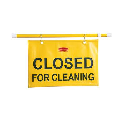 Rubbermaid FG9S1500 YEL Closed for Cleaning Sign - Yellow on Sale
