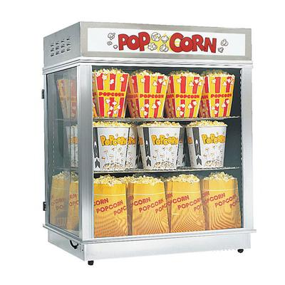 Gold Medal 2004SLDN Astro Pop Staging Cabinet w/ Swing & Sliding Doors & 3 Shelf Warmer, Neon Sign on Sale