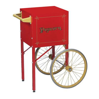 Gold Medal 2649CR Fun Pop Cart for 4 oz Popper w/ Storage Compartment & 2 Spoke Wheels, Red on Sale