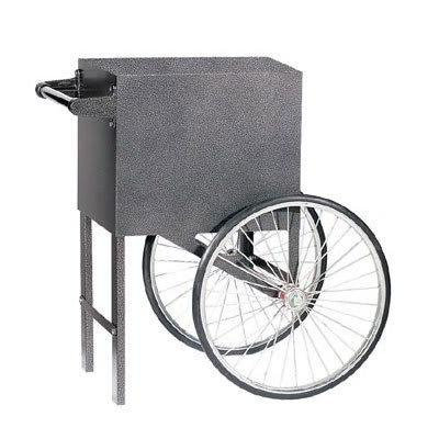 Gold Medal 2659SV Popcorn Cart w/ 2 Spoke Wheels, Silver Vane on Sale