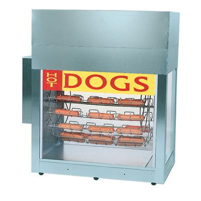 Gold Medal 8103 Hot Dog Rotisserie Cooker w/ 84 Hot Dog & 60 Bun Capacity, 120v on Sale