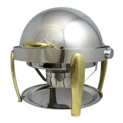 Bon Chef 10001 Round Chafer w/ Roll-Top Lid & Chafing Fuel Heat on Sale