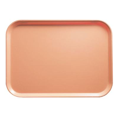 Cambro 1014117 Fiberglass Camtray Cafeteria Tray - 13.75L x 10.6W, Dark Peach on Sale