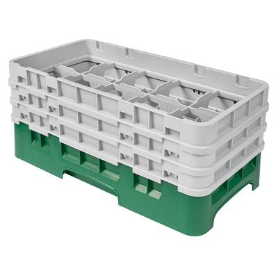 Cambro 10HS638119 Camrack Glass Rack - (3)Extenders, 10 Compartments, Sherwood Green on Sale