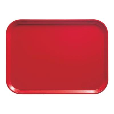 Cambro 1318510 Fiberglass Camtray Cafeteria Tray - 17.75L x 12.6W, Signal Red on Sale