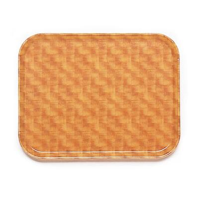 Cambro 1418302 Fiberglass Camtray Cafeteria Tray - 18L x 14W, Light Basketweave on Sale