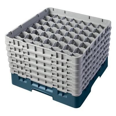 Cambro 49S1114414 Camrack Glass Rack - (6)Extenders, 49 Compartment, Teal on Sale