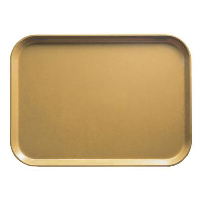 Cambro 57514 Fiberglass Camtray Cafeteria Tray - 6.9L x 4.9W, Earthen Gold on Sale