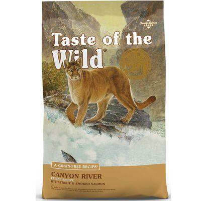 Taste Of The Wild Dry Cat Food Canyon River Feline Formula w/ Trout & Smoked Salmon 14 lb
