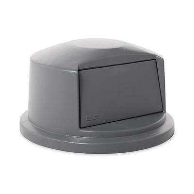 Rubbermaid FG263788GRAY Round Dome Trash Can Lid - Plastic, Gray on Sale