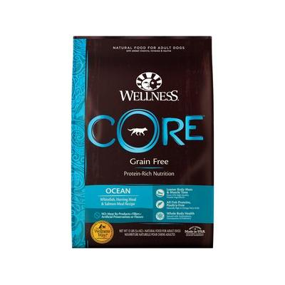 Wellness CORE Grain Free Ocean Whitefish, Herring & Salmon Recipe Dry Dog Food, 12-lb bag