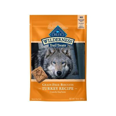 Blue Buffalo Wilderness Trail Treats Turkey Biscuits Grain-Free Dog Treats, 10-oz