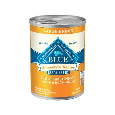 Blue Buffalo Homestyle Large Breed Chicken Dinner Garden Vegetables Canned Dog Food, 12.5-oz, 12ct