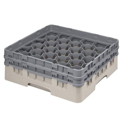 Cambro 30S434184 Camrack Glass Rack - (2)Extenders, 30 Compartment, Beige on Sale