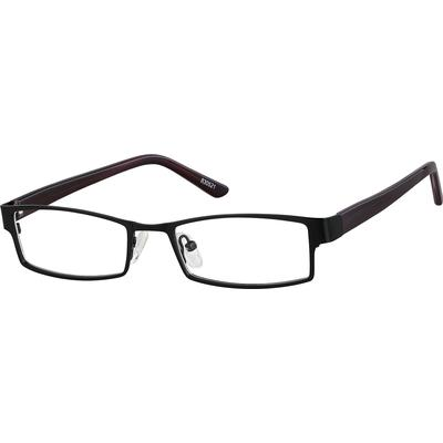 Zenni Mens Classic Rectangle Prescription Glasses Black Frame Plastic 830521