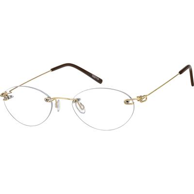 Zenni Lightweight Rimless Prescription Glasses Gold Frame Other Metal 322114