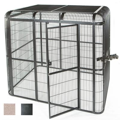 "A&E Cage Company 85"" X 61"" Walk In Aviary in Black, Medium"