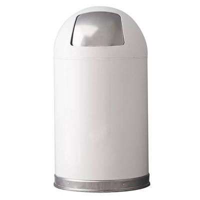 Witt 12DTWH 12 gal Indoor Decorative Trash Can - Metal, White on Sale
