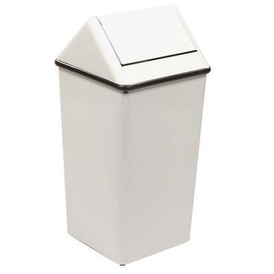 Witt 1311HTWH 13 gal Indoor Decorative Trash Can - Metal, White on Sale