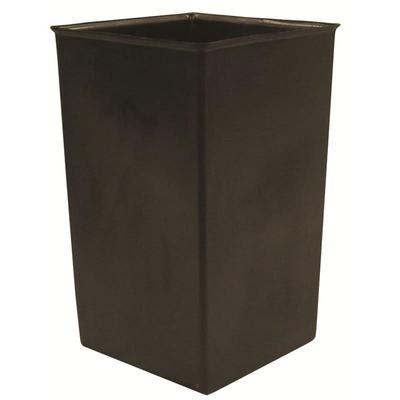 Witt 36R 36 gal Square Rigid Trash Can Liner, Plastic - Black on Sale