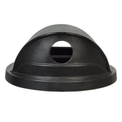 Witt SC55HT-RHH Round Dome Trash Can Lid - Plastic, Black