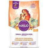 Halo Holistic Chicken & Chicken Liver Recipe All Life Stages Small Breed Dry Dog Food, 4-lb bag