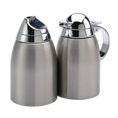 Service Ideas SSC85 8.5 oz Sugar & Creamer Set w/ Chrome-Plated Plastic Lid, Stainless on Sale
