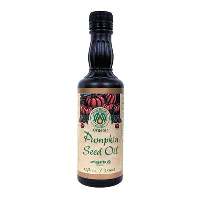 SB: Omega Nutrition Baking and Cooking - Pumpkin Seed Oil - 12 fl. oz (355 Pumpkin Seed Oil - 12 fl. oz (355 ml). Pumpkin Seed Oil has been used for centuries in Eastern Europe India and North America. Scientists began studying the oil when it kept popping up as an ingredient in many folk medicine recipes.What did they...