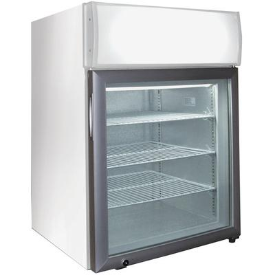 Excellence CTF-2MSHC White Countertop Display Freezer with Swing Door - 1.8 cu. ft.