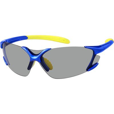 Zenni Mens Sporty Sunglasses Blue Frame Other Plastic A10160416