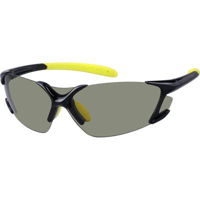 Zenni Mens Sporty Sunglasses Bla...