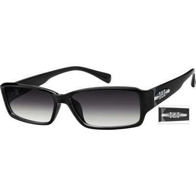 Zenni Men's Sunglasses Black Plastic Frame