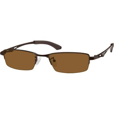 Zenni Mens Sunglasses Brown Frame Titanium A8579415