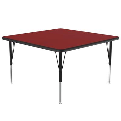 "Correll A4848-SQ 35 Activity Table w/ 1 1/4"" High Pressure Top, 48""W x 48""D, Red"