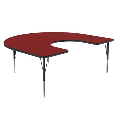 Correll A6066-HOR 35 Activity Table w/ 1.25 High Pressure Top, 66W x 60D, Red on Sale