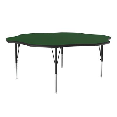 Correll A60-FLR 39 48 Flower Shape Table w/ 1.25 High Pressure Top, Green on Sale